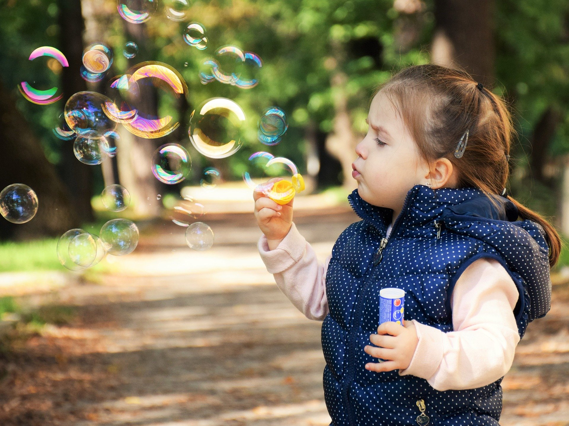 blowing bubbles for anxiety in children