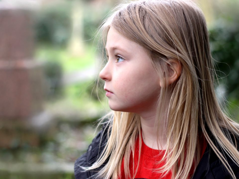 Girl worried about going back to school